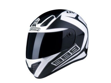 Marushin 999RS Fundo Siyah/Beyaz Fullface kask