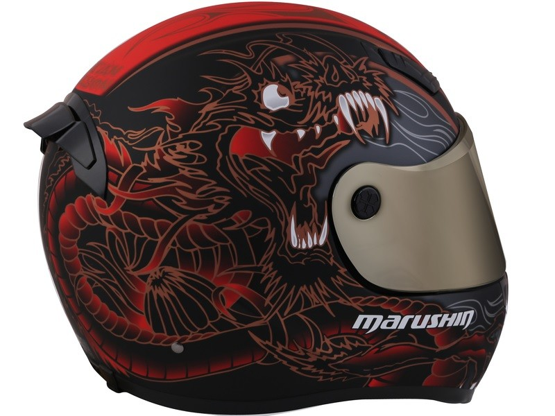 Marushin 999RS SHiVAN DRAGON  Mat Siyah / Kırmızı / Gold